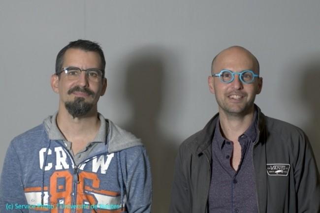 Arnaud Abélard, administrateur système (à gauche), et Matthieu Le Corre, responsable technique du pôle enseignement en sciences (à droite) de l'Université de Nantes, ont déployé une plateforme libre pour près de 50 000 usagers.