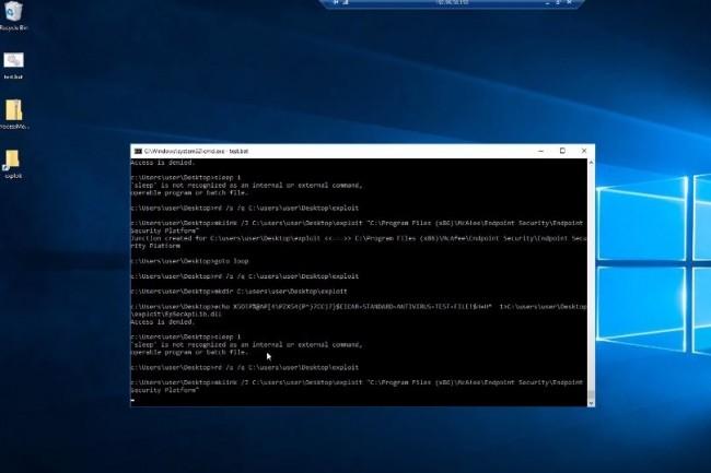 Rack9 Labs a été capable d'effacer des fichiers relatifs au logiciel antivirus mais aussi de détruire des fichiers système importants pouvant causer une erreur de corruption système significative. (crédit : Rack9 Labs)
