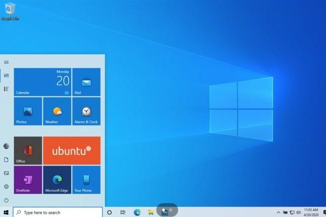 On peut installer Ubuntu 20.04 en dual boot avec Windows 10 ou recourir à WSL pour l'utiliser dans Windows 10. (Crédit image : Microsoft)