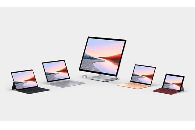 Les revenus générés par les notebooks de la gamme Surface de Microsoft ont augmenté de 219% en un an. (Crédit : Microsoft)
