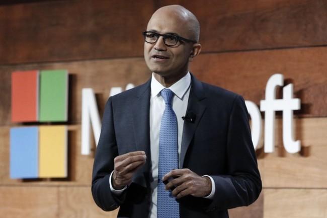 Les résultats financiers de Microsoft ont dépassé les attentes des analystes sur les trois premiers mois de l'année. Le CEO Satya Nadellaestime que la firme de Redmond est bien placée pour faire face à ce qui arrive. (Crédit : Microsoft)