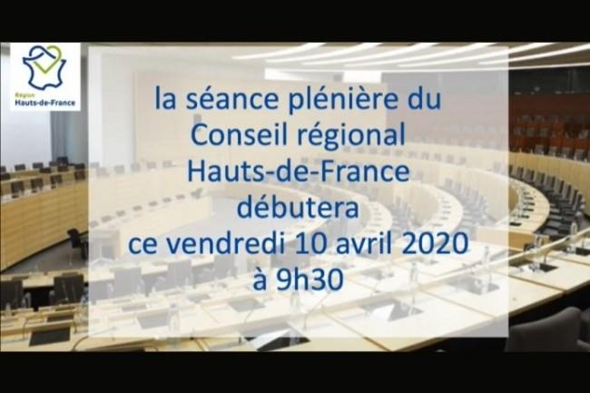 La région Hauts-de-France a diffusé sa séance plénière en direct sur Facebook le 10 avril 2020.