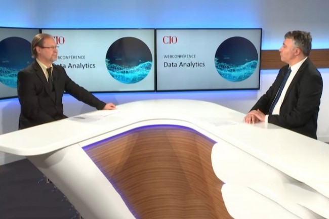 Jacques Cheminat (rédacteur en chef adjoint du Monde Informatique, à gauche) et Bertrand Lemaire (rédacteur en chef de CIO, à droite) ont présenté la webconférence « Data Analytics : optimiser la valeur business tirée du patrimoine data » du 28 avril 2020.