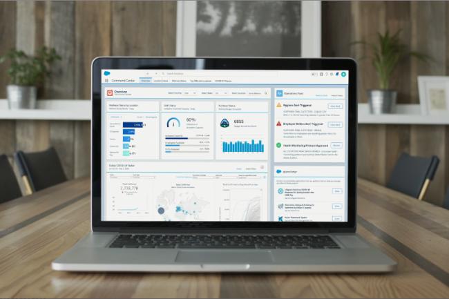 Work.com prévoit plusieurs outils pour accompagner les entreprises dans la gestion du retour au bureau. (Crédit Photo: Salesforce.com)