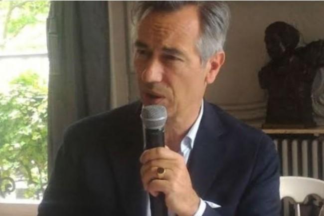 Godefroy de Bentzmann, président de Syntec Numérique insiste sur la nécessité d'accompagner et soutenir le secteur numérique dans la relance post crise, afin qu'il puisse porter la reprise de l'ensemble de l'économie. Crédit photo: Dominique Filippone.