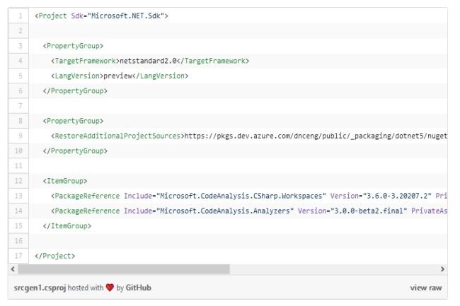 La fonction Source Generators permet d'inspecter les codes et les fichiers sources. (Crédit Photo : DR)