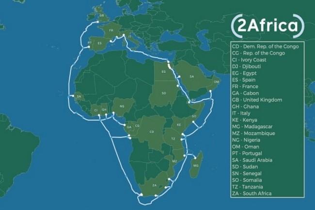 Facebook et des opérateurs vont construire un câble sous-marin de 37 000 km autour de l'Afrique. (Crédit Photo : Facebook)
