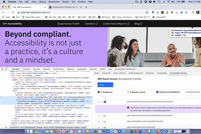 Les outils Equal Access Toolkit et Accessibility Checker d'IBM aident les développeurs de sites web et d'applications à identifier les problèmes d'accessibilité numérique que peuvent rencontrer les utilisateurs mal-voyants. (Crédit : IBM)