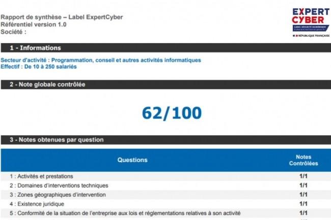 Un rapport de synthèse permet d'obtenir des informations sur la qualité des prestations fournies par les fournisseurs labellisés ExpertCyber. (crédit : Cybermalveillance.gouv.fr)