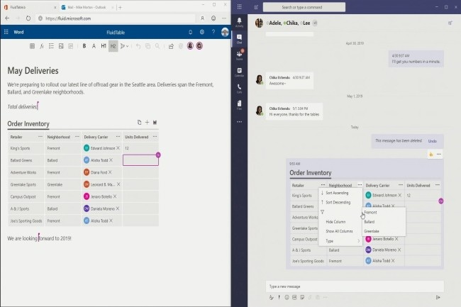 Avec le projet Cortex et Fluid Framework, Office met le cap sur la collaboration et l'open source. (Crédit Photo : Microsoft)