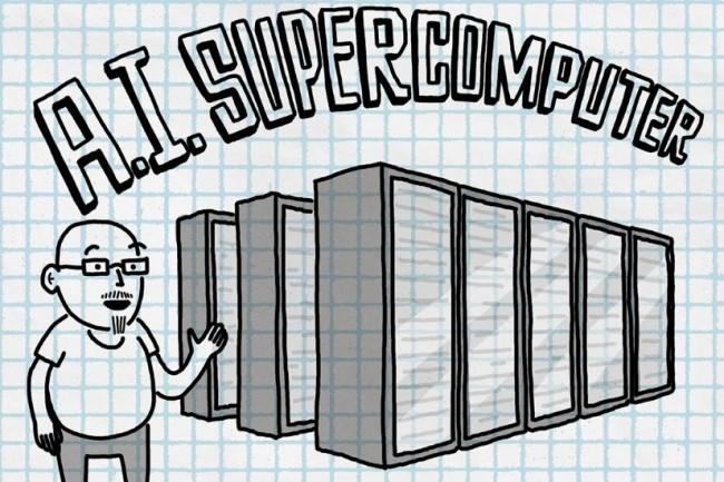 Co-développé avec OpenAI, le supercalculateur de Microsoft taillé pour les traitements IA dans son cloud Azure devrait disposer d'une puissance de calcul d'au moins 23 000 teraflops par seconde. (crédit : Microsoft)