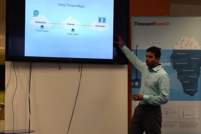 Le CEO de Thousandeyes Mohit Lad (ici à SF lors d'un IT Press Tour) restera un temps chez Cisco pour assurer l'intégration de sa plateforme. (Crédit S.L.)