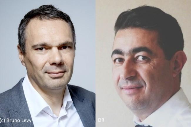 Lionel Chaîne (à gauche) est remplacé à La Poste par Hicham Benabdallah (à droite)
