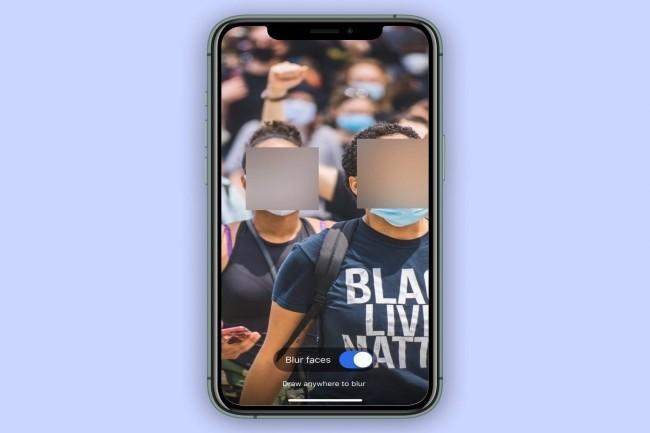 Signal a annoncé la possibilité de flouter les visages sur les photos échangées. (Crédit Photo : Signal)