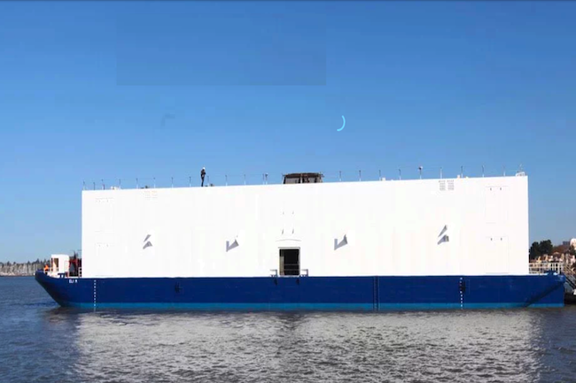 La start-up  Nautilus Data a levé 100 millions de dollars pour construire des datacenters flottants. (Crédit Nautilus)