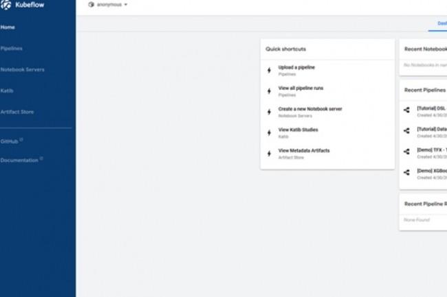 Kubeflow expose sa fonctionnalité d'interface utilisateur via un tableau de bord qui est déployé dans le cluster. (crédit : D.R.)