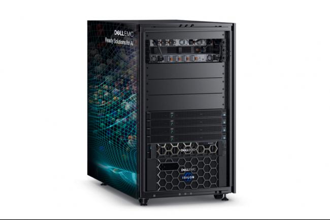 Le Dell EMC Ready Solutions for Virtualized HPC, sur base PowerEdge R740xd et C4140, exploite des puces Intel Xeon, des GPu Nvidia V100 et du stockage Isilon F800. (Crédit Dell)