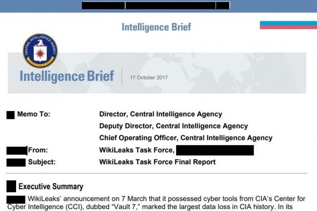 Dans un rapport datant de 2017 et rendu partiellement public le 16 juin 2020, la CIA a rendu compte d'améliorations pour muscler sa cybersécurité. (crédit : DoJ)
