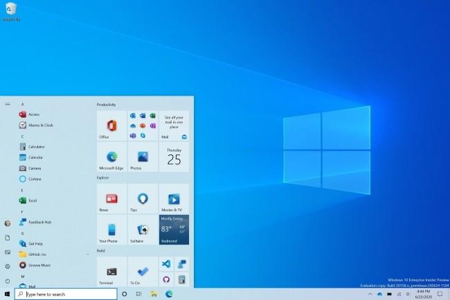Dans son programme Insider, Microsoft a pu tester des évolutions de différentes fonctions dans Windows 10 comme le menu démarrer. (Crédit Photo: Microsoft)