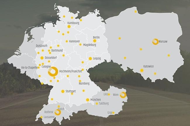Entreprise allemande, Technogroup est tr�s pr�sente dans toute la r�gion DACH ainsi qu'en Pologne. (Cr�dit : Technogroup)
