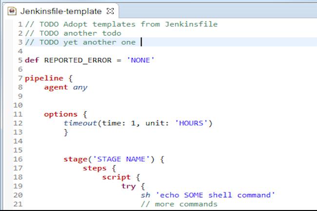 les utilisateurs de Jenkins définissent leurs pipelines dans un fichier qui décrit les différentes étapes comme la build, le test et le déploiement. (Crédit D.R.)