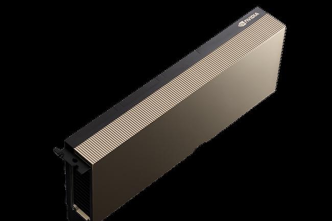 Le circuit A100, gravé en 7 nm par TSMC, intègre 54 milliards de transistors pour 6912 coeurs Cuda et une performance de 312 Tflops en FP32.