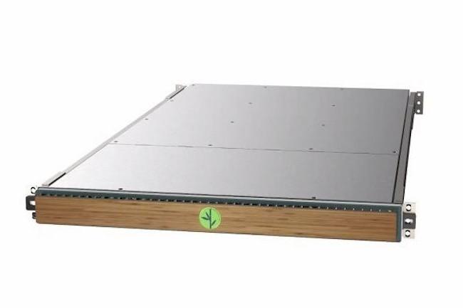 Design sobre type rack pizza pour les serveurs ARM de Bamboo Systems. (Crédit D.R.)