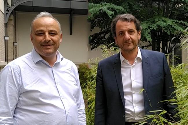 Acial, codirig�e par Mohamed Hassen (� gauche) et Petros Mavrocordatos, pr�voit de r�aliser une premi�re acquisition d'ici d�but 2021. (Cr�dit : Acial)