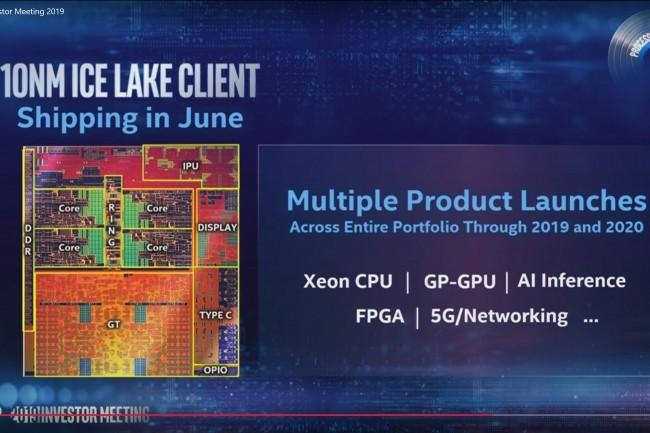 Intel compte lancer ses puces Xeon Ice Lake, gravées en 10 nm, avant la fin de l'année. (Crédit Intel)