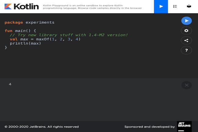 Les développeurs peuvent tester Kotlin en ligne via le Kotlin Playground