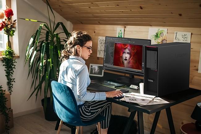 La ThinkStation P620 sera disponible à partir de septembre 2020 à partir de 3 925 € HT. (Crédit : Lenovo)