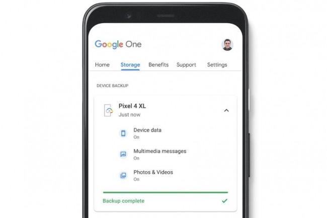La mise à jour de l'application Google 1 pour Android sera disponible dans quelques jours intégrant la dernière fonction de sauvegarde de smartphones et son gestionnaire de back up associé. (crédit : Google)