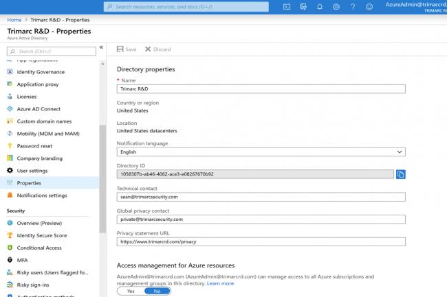 Si un compte d'administrateur global Office 365 est compromis, l'attaquant peut basculer dans un rôle dit de « Gestion de l'accès aux ressources Azure ».