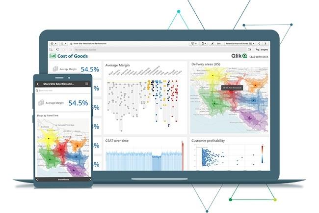 Qlik Sense offre un bon contrôle de l'apparence des visualisations. Il est meilleur que Microsoft Power BI, mais pas aussi bon que Tableau. (Crédit : Qlik Sense)