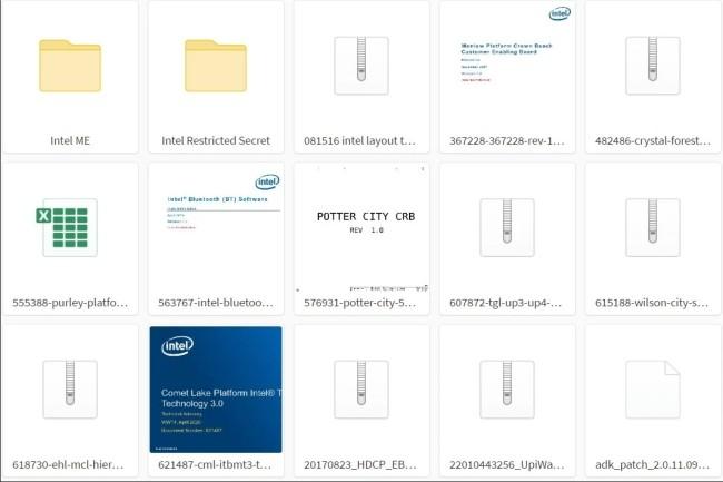 Un consultant IT a publié 20 Go de données liées à des produits Intel provenant probablement d'un piratage au début de l'année. (Crédit Photo: DR)