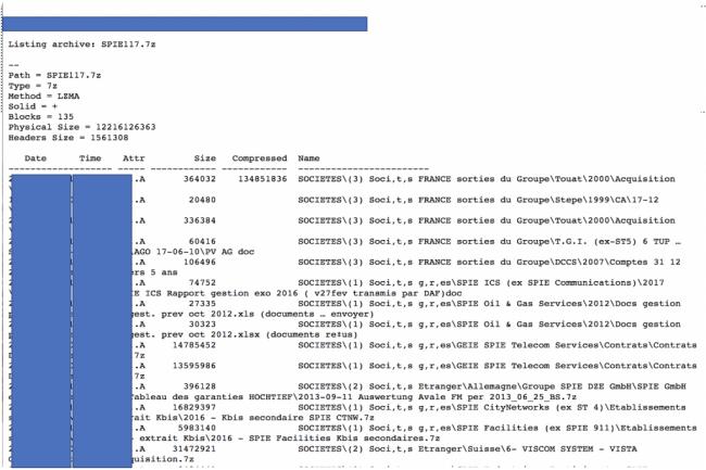 Le gang derrière le ransomware Nefilim a publié des documents dérobés au groupe Spie dans une attaque à la mi-juillet. (Crédit photo : D.R.)