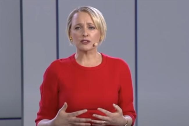 Juile Sweet, CEO d'Accenture, a décidé de se séparer de milliers de salariés jugés insuffisamment rentables. Crédit photo: YouTube