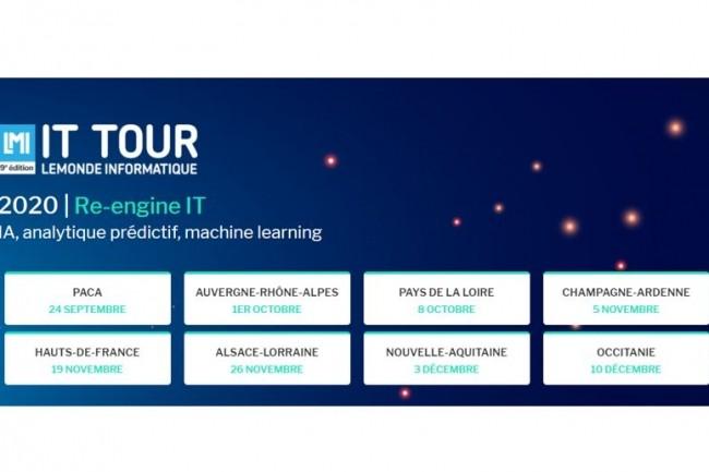 Les matinées IT Tour 2020 du Monde Informatique seront diffusées entre le 24 septembre et le 10 décembre 2020. (Crédit : LMI)