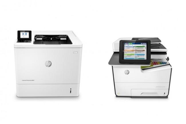 HP reste le n�1 mondial�du march� des imprimantes au 2�me trimestre 2020 m�me si ses ventes ont recul� de 14%. Ci-dessus, les mod�les professionnels LaserJet�et PageWide (Cr�dit : HP)