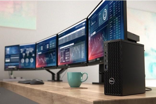 La Dell Precision 3240 Compact se présente sous la forme d'un boitier de 188 X 7 X 17 cm pesant 1,71 Kg. Crédit photo : D.R.