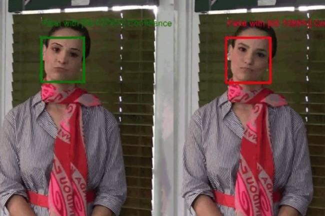 « Video Authenticator onctionne en détectant la limite de fusion des éléments deepfake et subtils de décoloration ou de niveaux de gris qui pourraient ne pas être détectables par l'œil humain », a précisé Microsoft dans un billet de blog. (crédit : Microsoft)