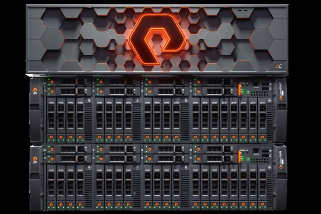 La NAND QLC vient gonfler la capacité de stockage des baies  Flash Array//C de Pure Storage. (Crédit Pure)