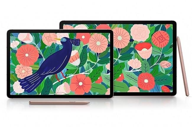 Les tablettes Galaxy Tab S7 et S7+, conçues tout à la fois pour la productivité professionnelle et pour le divertissement. (Crédit : Samsung)