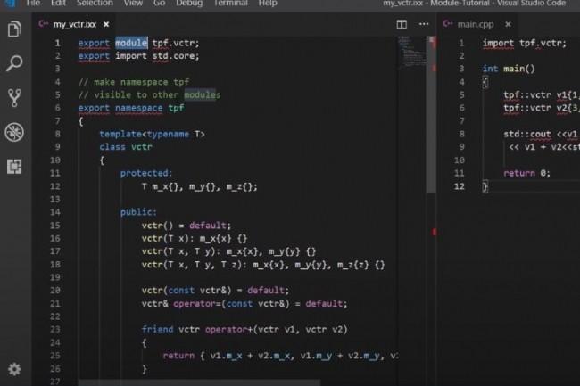 C ++ 20 permet aux programmeurs d'utiliser des composants modulaires. (crédit : Thomas Kim)