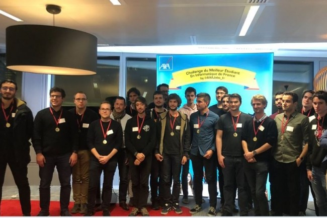 L'an dernier Axa France et EDITx ont co-organisé le concours du meilleur étudiant en informatique de France. Crédit photo: Axa Jobs France.
