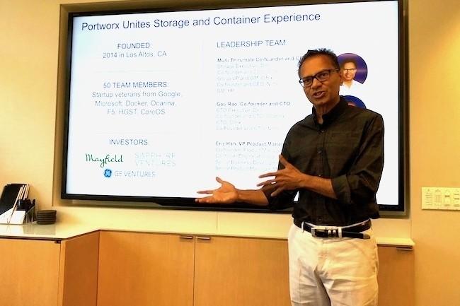 Murli Thirumale, cofondateur et CEO de Portworx, a n間oci� la cession de sa start-up � Pure Storage. (Cr閐it S.L.)