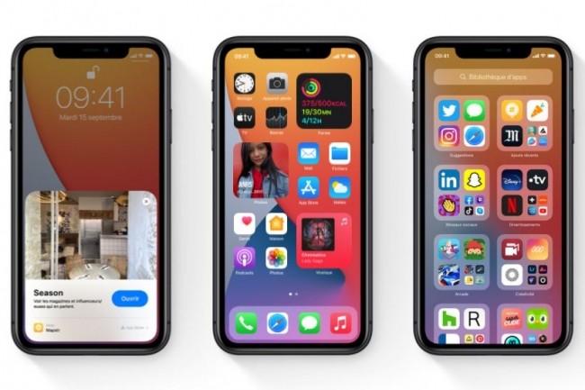 Avec iOS 14 Apple donne un coup de jeune à ses terminaux mobiles. (crédit : Apple)