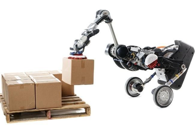 Parmi les futurs robots logistiques de Boston Dynamics, l'étonnant Handle sait collaborer avec d'autres machines pour le picking. (Photo Boston Dynamics)