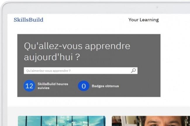 Parmises formations,Skillsbuild Reignite propose des cours surle développement web, la cybersécurité et la gestion d'infrastructures cloud. (Crédit : IBM)