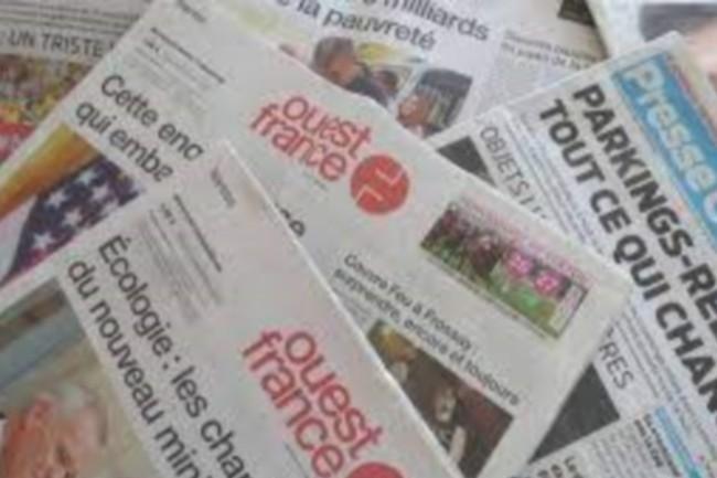Ouest-France cumule près de 650 000 exemplaires chaque jour.